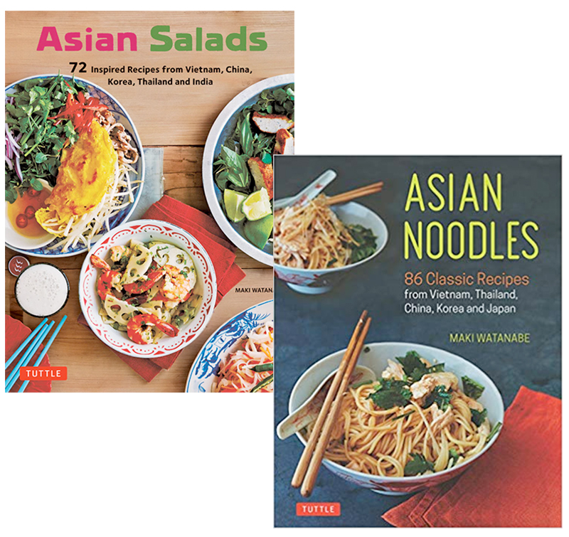 Asian Salads and Asian Noodles Cookbook Covers