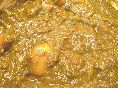 Japanese beef curry, closeup