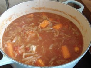 Curry - stewing in the pot