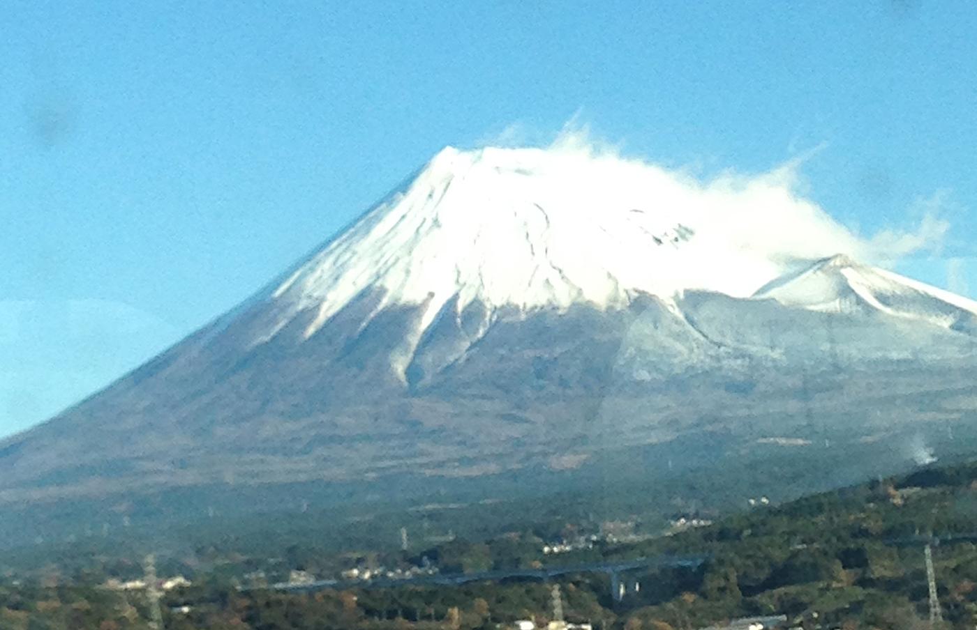 Mt. Fuji from the Tokaido Shinkansen
