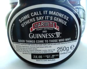 Guinness Marmite - back label