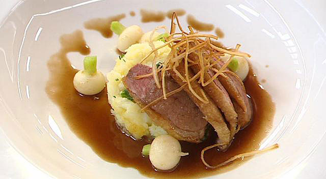 Steven Wallis winning menu for Masterchef 2007 - main course