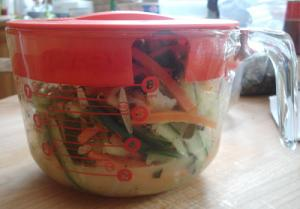 5-a-day mixed vegetable pickles in bowl