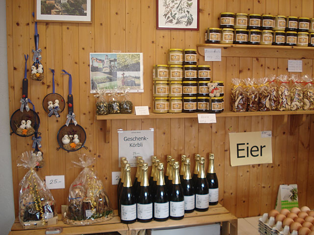 Mueller farm shop - wall display