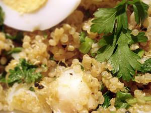 Quinoa kedgeree - closeup